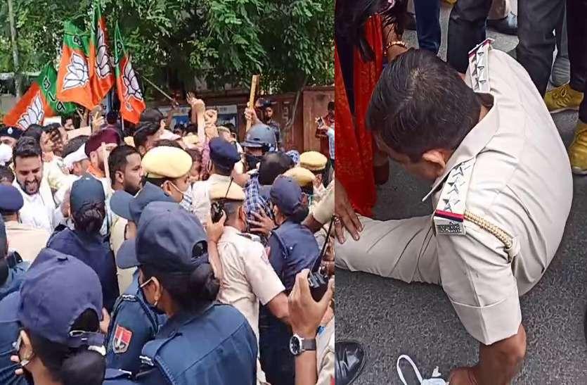 राजस्थान : Gehlot सरकार के खिलाफ 'हल्ला-बोल' करने उतरी BJP, फिर जो हुआ वो...