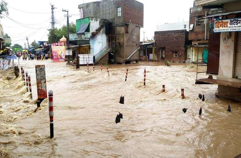 Heavy Rain : झालावाड़ में 14.6 इंच पानी बरसा, कालीसिंध के 14 गेट खोले