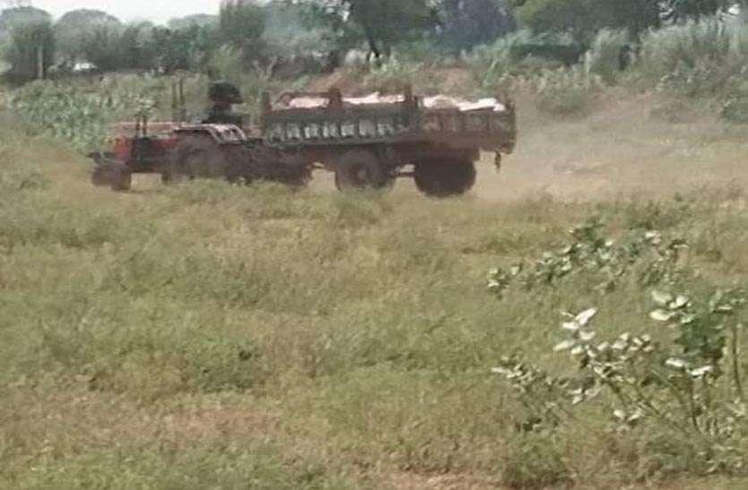 वन क्षेत्र में अवैध खनन परवान पर