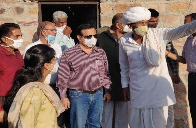 गांव पहुंचे संभागीय आयुक्त ने जानी प्रशासन गांवों के संग अभियान की तैयारी