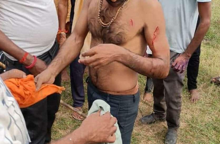 युवक पर बाघ ने किया हमला, गणेश विसर्जन करने जा रहे युवाओं ने बचाई जान