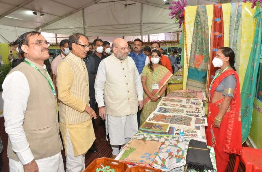 पुष्पराजगढ़ की गोंड़ी कला के कायल हुए अमित शाह, केंद्रीय गृहमंत्री और मुख्यमंत्री ने की सराहना