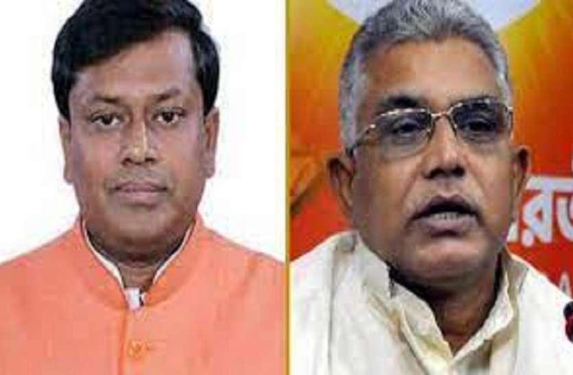 भाजपा के राष्ट्रीय उपाध्यक्ष नियुक्त हुए दिलीप घोष, सुकांता मजूमदार बंगाल में पार्टी प्रमुख बने