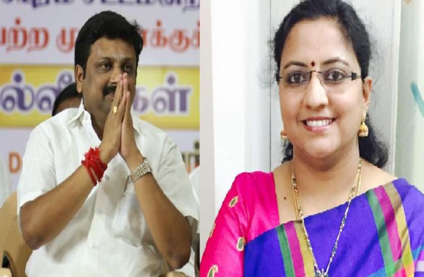 DMK प्रत्याशी कनिमोझी सोमू और राजेश कुमार ने राज्यसभा की दो सीटों के लिए नामांकन दाखिल किया