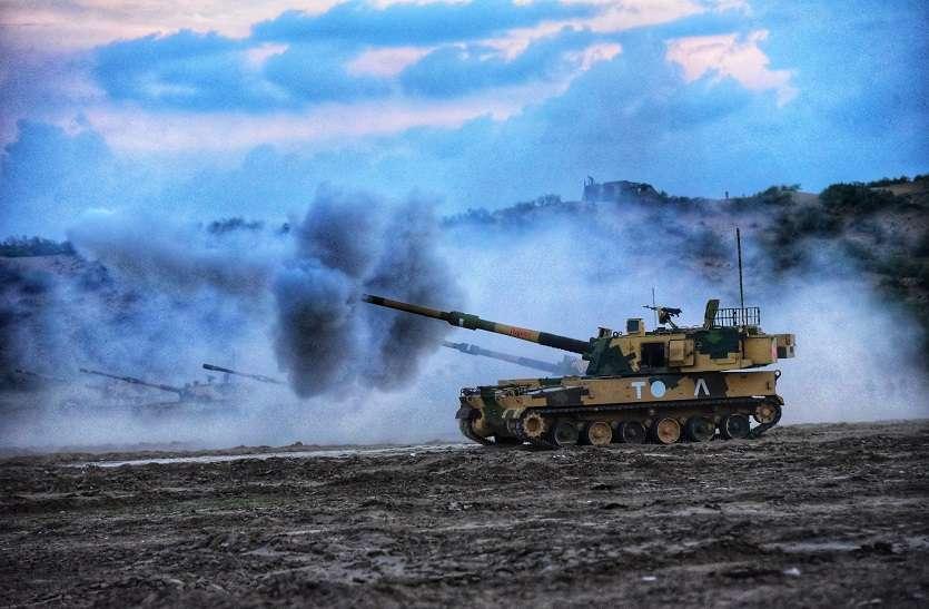 indigenous artillery guns training camp