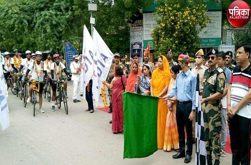 गुजरात के दांडी से पाली पहुंची बीएसएफ की साइकिल रैली