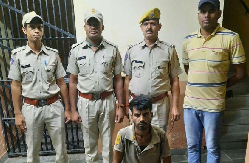 मंदिर से दिनदहाड़े दान पात्र से रुपए चोरी का आरोपी गिरफ्तार
