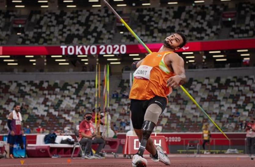 टोक्यो पैरालंपिक में गोल्ड मेडल दिलाने वाले सुमित अंतिल के भाले की बोली ई नीलामी में पहुंची 10 करोड़ तक