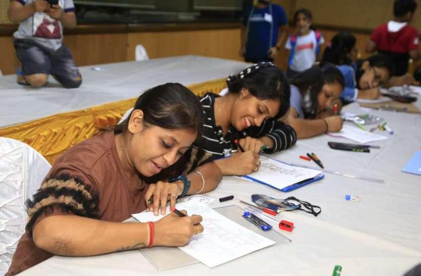 AGRSEN JAYANTI MAHOTSAV: श्यामकुंज में प्रतियोगियों ने लिखा राम-राम