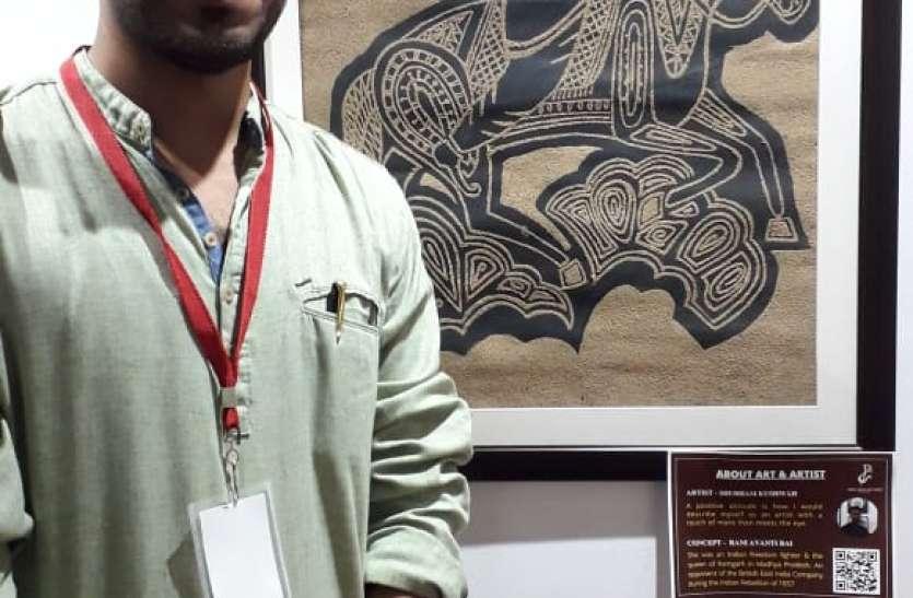 डेढ़ साल बाद स्वराज भवन आर्ट गैलरी फिर गुलजार, हर पेंटिंग में दिखी स्वतंत्रता संग्राम की दास्तां