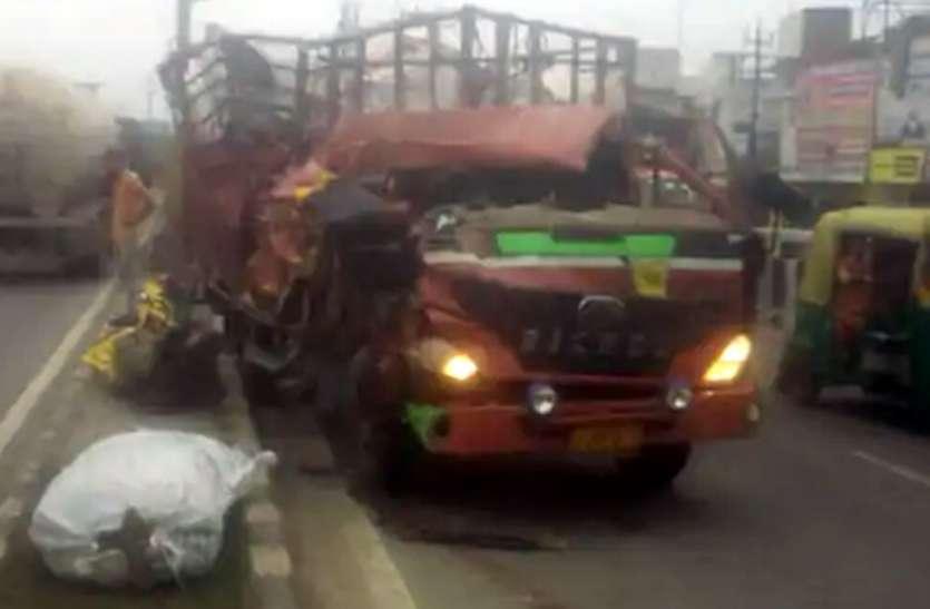 खड़े ट्रक में डीसीएम ने मारी टक्कर चालक की मौत