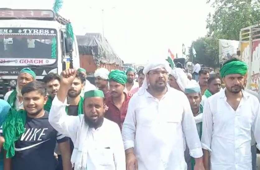 Bharat Bandh : दिल्ली-देहरादून हाईवे पर चक्का जाम, सुबह से ही धरने पर बैठे किसान संगठनों के कार्यकर्ता