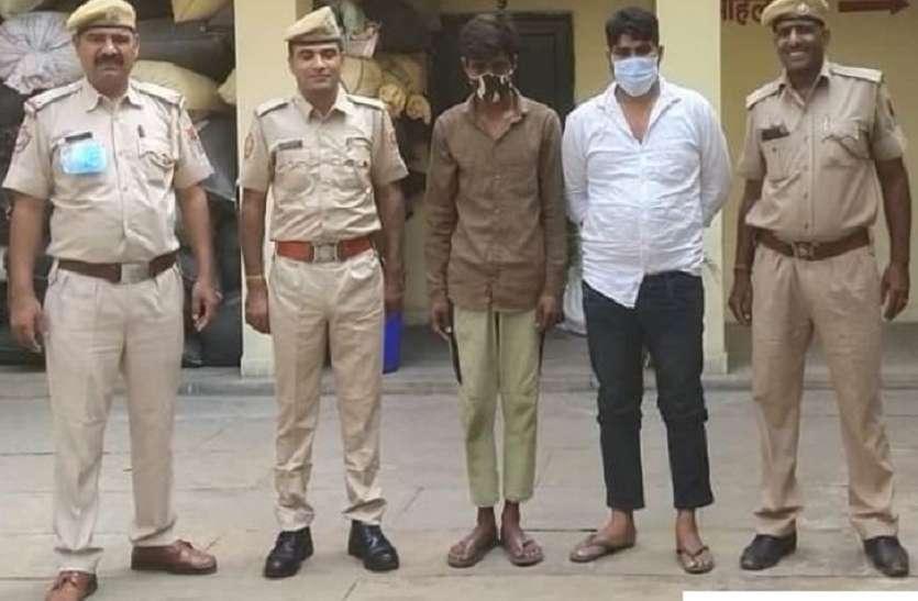 चोरी नकबजनी का खुलासा, खरीददार सहित दो बदमाश गिरफ्तार