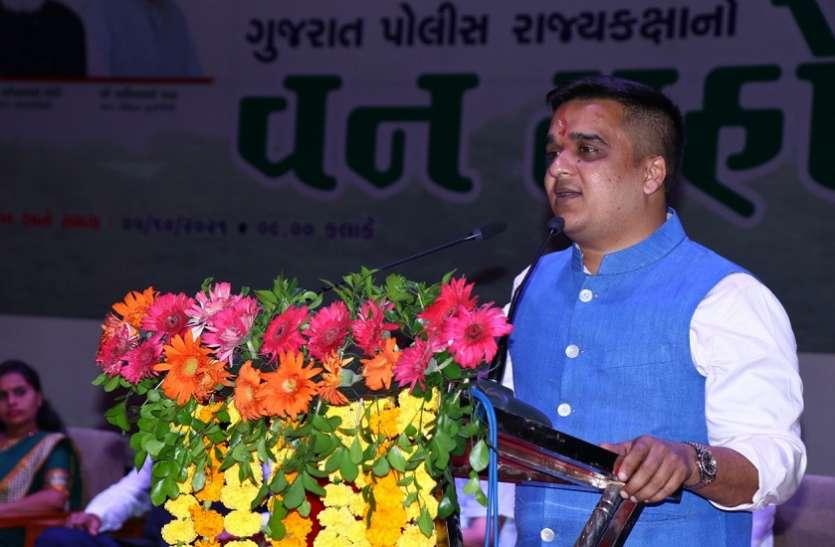 Gujarat Hindi News : सीसीटीवी सुरक्षा के दायरे में होंगे गुजरात के छोटे शहर : हर्ष संघवी