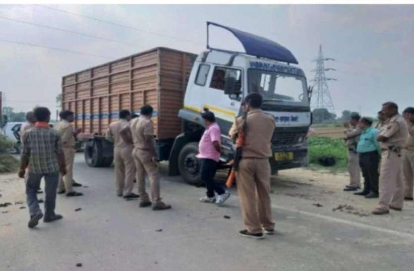 करोड़ों रुपये से भरा कंटेनर हाईवे पर खराब होने से उड़े पुलिस-प्रशासन के होश