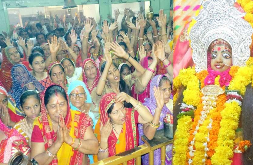 नवरात्र में कंकाली माता के दर्शन को उमड़े श्रद्धालु