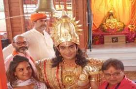 श्री रामलला का दर्शन करने पहुंचे रामलीला के राम