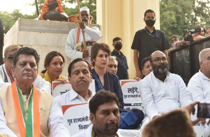 किसान हत्यारों को बचा रही भाजपा सरकार, अपना अहंकार छोड़, किसानों से माफी मांगे- प्रियंका गांधी