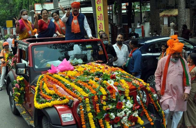 SURAT BJP NEWS: मंत्रियों के स्वागत में उमड़े भाजपा कार्यकर्ता