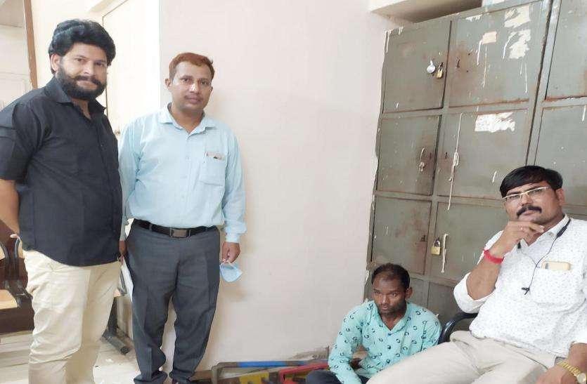 रेलवे परिसर से तांबा चोरी का आरोपी गिरफ्तार