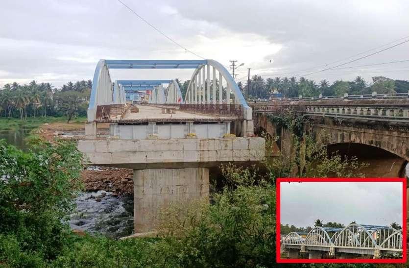 पुल निर्माण कार्य रुकने से लोग परेशान