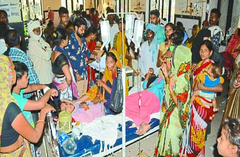 वायरल-डेंगू का गठजोड़, अस्पताल में क्षमता से तीन गुना भर्ती