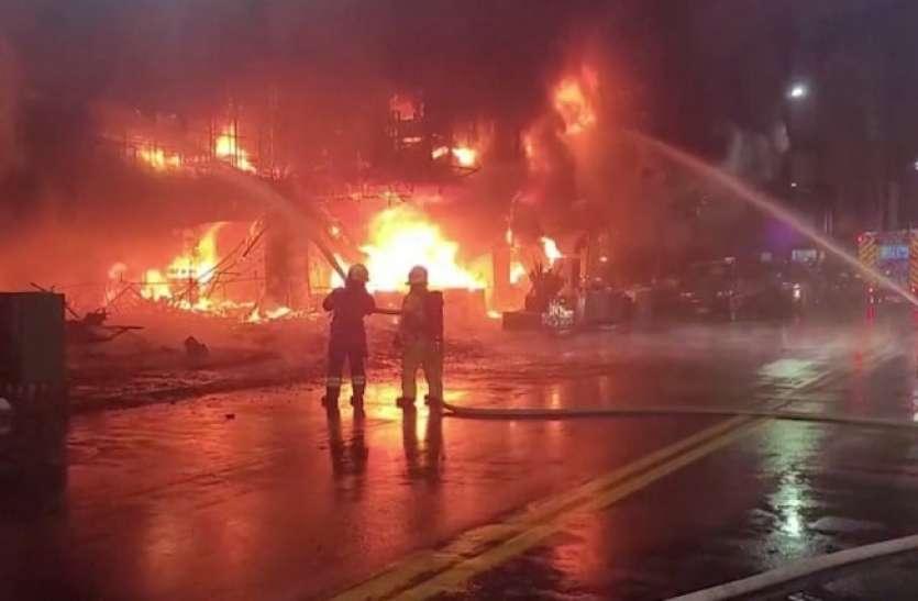 ताइवन की एक इमारत में लगी भीषण आग, 46 लोग जिंदा जले, 41 झुलसे