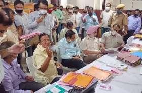 यूडीएच मंत्री पहले लक्ष्मी मंदिर तिराहे पहुंचे, यहां से यूटर्न लिया और फिर निगम कार्यालय में घुसे
