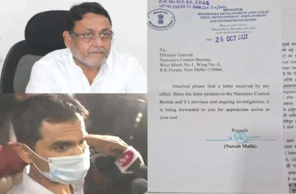 नबाव मलिक ने समीर वानखेड़े के खिलाफ फोड़ा लेटर बम, मुंबई पुलिस भी करेगी मामले की जांच