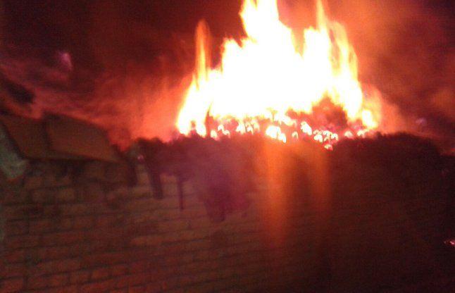 सीआरपीएफ के जंगल में लगी आग