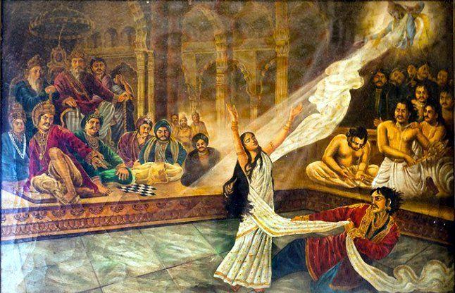 दमन का द्रोह करती द्रौपदी