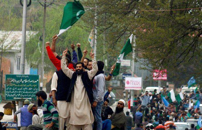 जम्मू-कश्मीर में बीफ बैन का विरोध, लहराए गए पाक-ISIS के झंडे