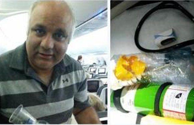 उड़ते विमान में बोतल से बनाया इनहेलर, बचाई दो साल के बच्चे की जान