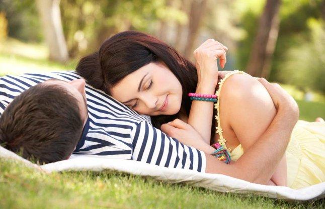 happy couple girl