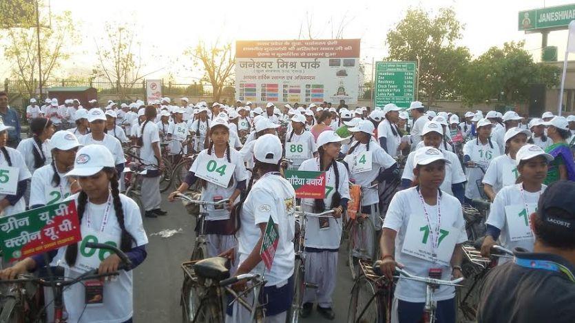 #World sparrow Day : स्कूली बच्चों ने साइकिल रैली निकालकर दिया गौरैया बचाओ का सन्देश