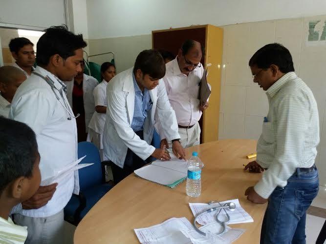 MCI की तीन सदस्यीय टीम नेकियामेडिकल कॉलेज का दौरा