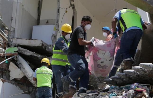 इक्वाडोर: भूकंप के अब तक 272 की मौत, 2068 लोग घायल