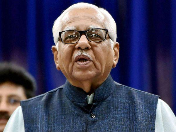 राज्यपाल राम नाईक की फिसली जुबान, भाजपा विधायक के लिए मांगे वोट