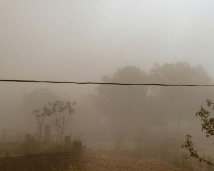 बनारस में धूल भरी आंधी की रफ्तार 125 किलोमीटर प्रति घंटा