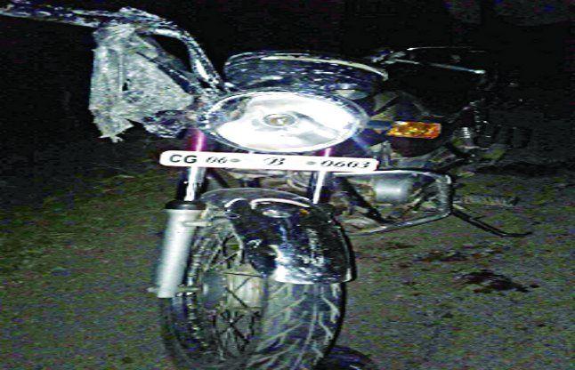 सड़क दुर्घटना में बाइक सवार शिक्षक की मौत