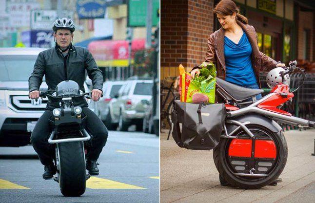 लो आ गई एक पहिए वाली मोटरसाइकिल, देखें वीडियो