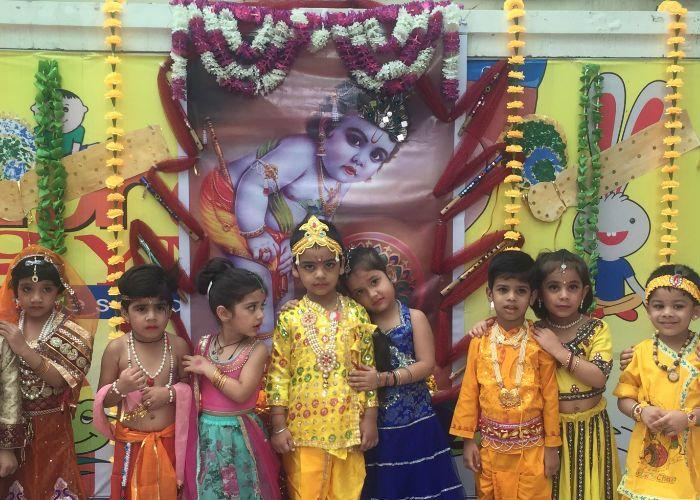 यूरो किड्ज में धूमधाम से मनाई कृष्ण जन्माष्टमी