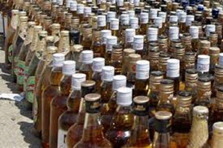भारी मात्रा में अवैध शराब बरामद