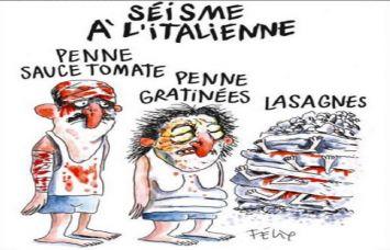 अब इटली भूकंप पर कार्टून बना विवादों में घिरा शार्ली हेब्दो