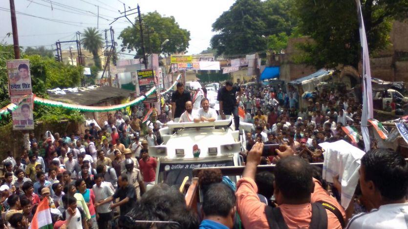 राहुल गांधी LIVE: नेहरू की जन्स्थली पहुंचे राहुल गांधी, उमड़ा जनसैलाब