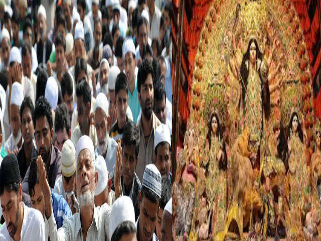 मुस्लिम समाज ने पेश की मिसाल, दुर्गा पूजा के लिए बदली 180 साल पुरानी परम्परा