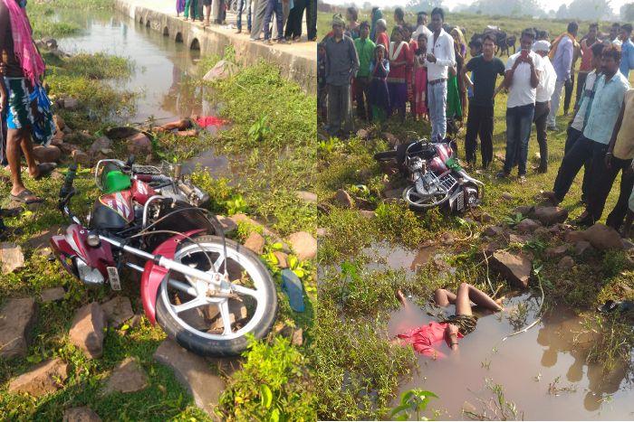 शराब के नशे में धुत बाइक चालक ने रोड किनारे खड़े युवक को मारी टक्कर, मौत