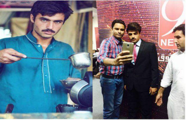 पाकिस्तान का 'चाय वाला' बन गया मॉडल