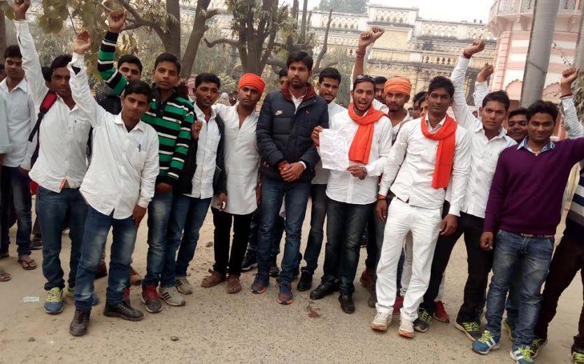 छात्रसंघ चुनाव की मांग के लिये अनशन से रोका तो छात्रों ने नहीं किया बर्दाश्त
