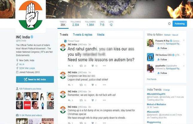 राहुल गांधी के बाद कांग्रेस का ट्विटर अकाउंट हुआ हैक